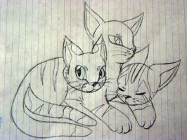 .:Cerberus Cat:. by CrazyMeliMelo