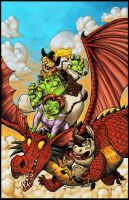 Shrek Free Comic BD Cover by RoloMallada
