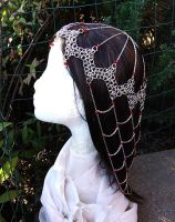 Red Crystal and Steel Chainmail Headdress (2013) by adrianwelchart