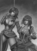 commission - Assassin and templar by FASSLAYER