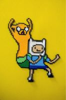 Aventure Time Finn and Jake Perler Bead by emelyjensen