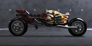 Futuristic Motorcycle by pelos1
