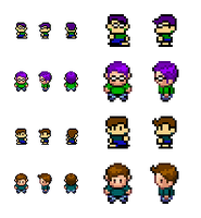 New Kenny and Hustino Sprites by GuruGuru214