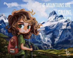 The Mountains Are Calling... by Chibi-Joey