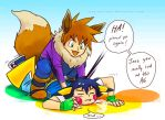 Pokemon: GEVEE USED TACKLE ATTACK by Innocent-raiN