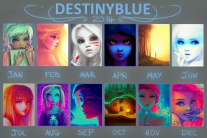 In 2014 Blue Drew... by DestinyBlue