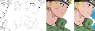 My Progress Sketch Lineart color Background by Sarah927