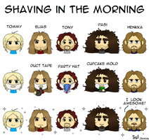 Sonata Arctica - Shaving in the Morning by Waffle-the-kitten
