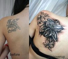 Cover up new Flowers TaT by 2Face-Tattoo