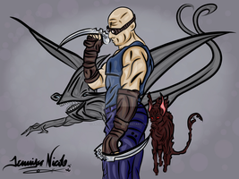 8-3-13 Riddick And His Pets It's An Animal Thing by artinthegarage