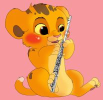 Simba and the Flute by Puffleduck