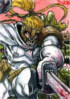 Shatterstar Sketch Card by DKuang