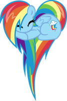 Rainbow Dash heart vector by Fehlung