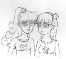 Test Twins Sketch by MazokuCreations