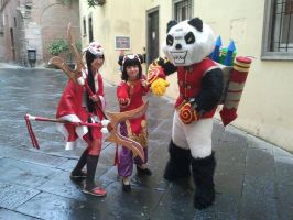 Panda Annie + Tibbers + Blood Moon Akali by Choppy-Hina