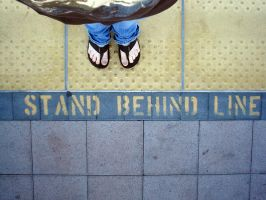 stand behind line by drinkgreenwater