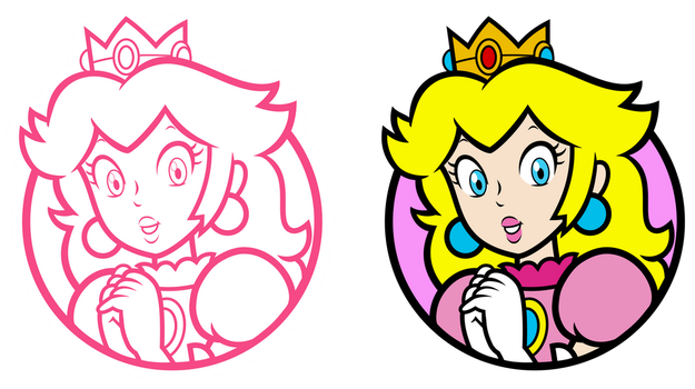 Peach Character Select Icons by GreenMachine987