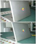 Sticker Apple Macbook Old/New by Fixounet