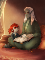 His little Apprentice by AnnMY