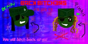 BACK BITCHERS CAMPAIGN LOGO by Syene