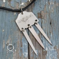 Silver Articulated Fork Pendant by Doctor-Gus