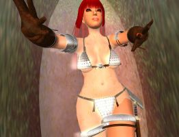 Red Sonja Venus Fly Trap 10 by kaolumbia