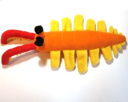 Anomalocaris plush by WeirdBugLady