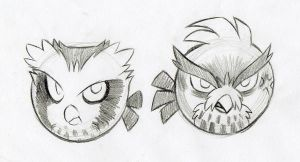 ANGRY BIRDS-I MEAN OWLS by KasaraWolf