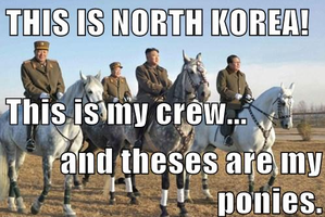 LOL. North Korea and there ponies. by SherubiiGD