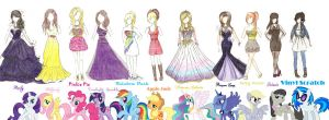 MLP: FIM Ponies Dress Line by XeMiChan576