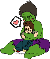 Hulk Hugs are the Best Hugs by MaidenofIron157