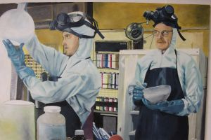 Breaking Bad Oil Painting by marcobergerart