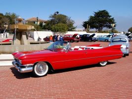 red 1959 Cadillac convertible by Partywave