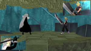 Sephiroth VS Cloud by KingdomHeartsNickey