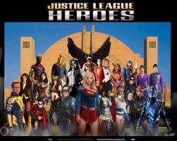 Justice League Heroes by ChopArt2012