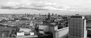 Panorama view on London by Sweet-Red-Cherry