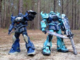 Donahue and Packard Gouf Troop by RedKARASU