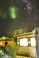 Backyard Star Trails by datazoid