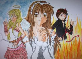 Schoolwork - Heaven and Hell by Giolein