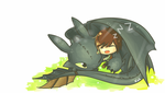 Hiccup and Toothless by Kohtaru-kun