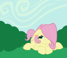 Fluttershy with a Bobbed mane by DeadGirlsLikeMe