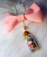 Sprinkle jar necklace by OphanimGothique