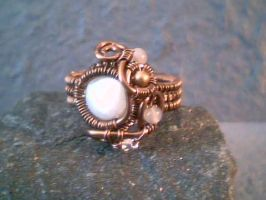 Full Moon - Adjustable Ring by Carmabal