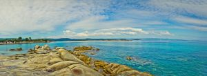 karidi beach panorama by mellowpt