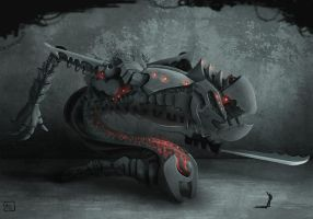 Fighting mecha speed painting by andreabianco