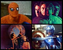 A Collage of Marvel TV Movie Heroes by WM4ART