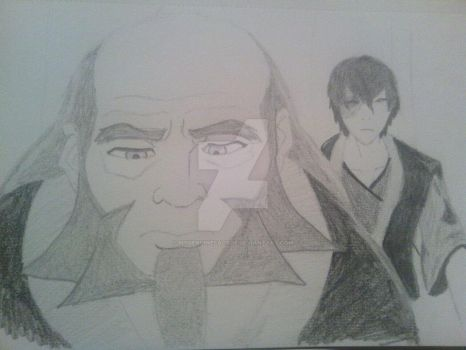 Harmony Drawing Zuko And Uncle Iroh by mygenuinefacade