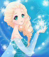 Frozen : Elsa by Kunniki