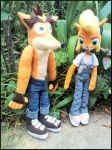 Crash and Coco plushies by Bel-Star