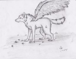 Winged wolf by Jinx135